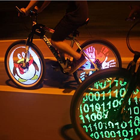 Cdycam 128 RGB LED. Luces de radios de bicicleta. Cambio de color ...