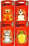 Dentek Animal Toothbrush Cover   Pack of 4   Animals May Vary
