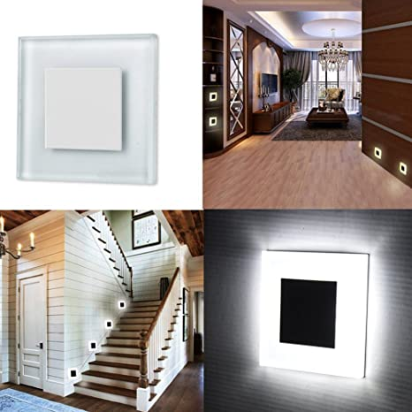 INHDBOX 3W Recessed Wall Stairs Step Night LED Lamp Light 85V~ 265V Shatter  Resistant