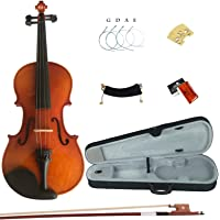 Esound 1/8 MP01B Solid Wood Varnish Violin for Beginners with Hard Case, Shoulder Rest, Bow, Rosin and Extra Strings