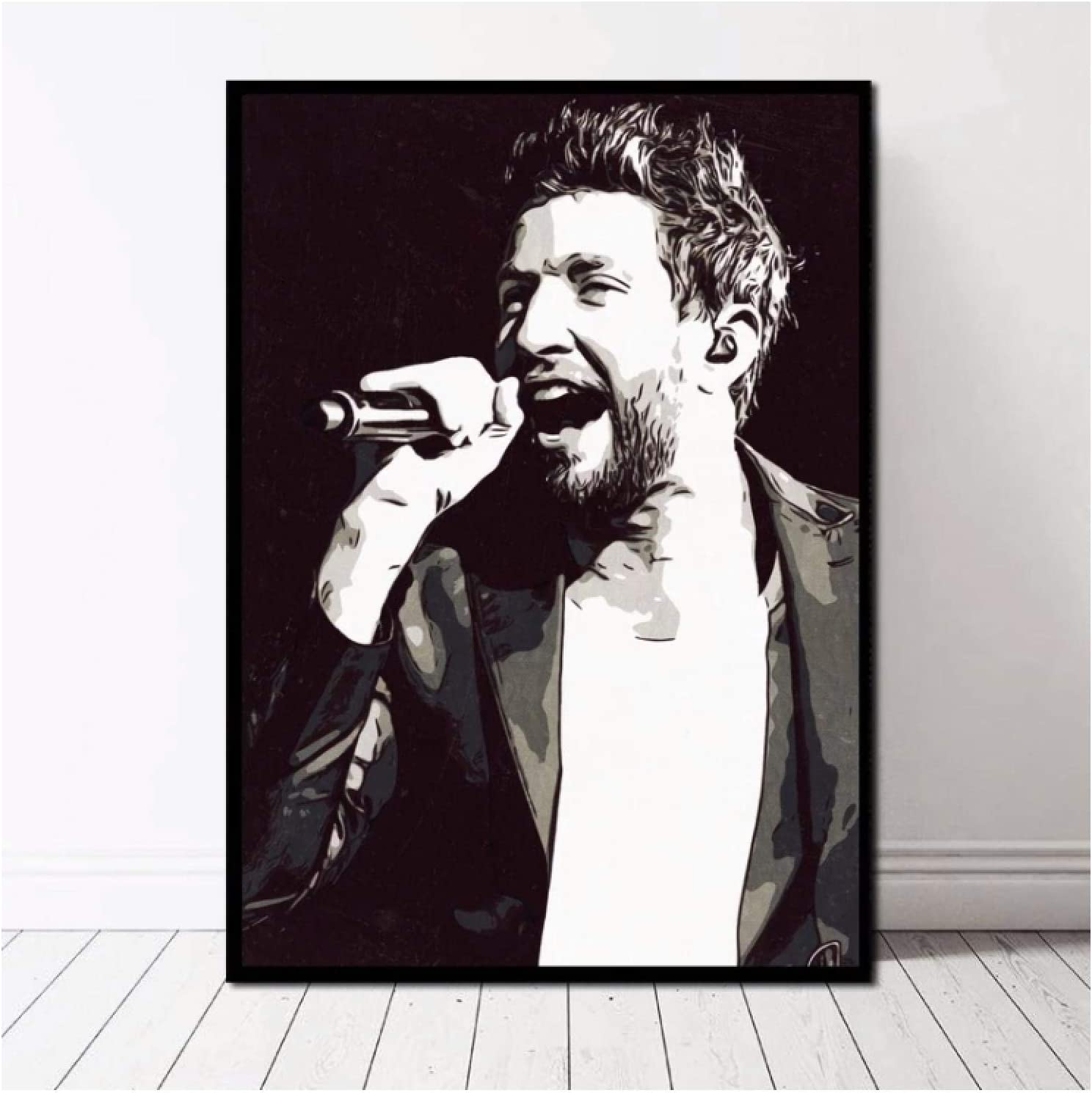 CAOHD Brett Eldredge Poster Canvas Print Home Decor Wall Art Print On Canvas for Living Room Decor Great Gift -50X70Cm No Frame