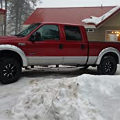 Amazon Com Fender Flares For 97 07 Ford F 250 F 350 F 450 Pack Of