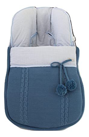 Saco funda ESPECÍFICO para MATRIX de JANE en punto azul francia y rayas azules. Modelo Sophie. Fabricado en España.