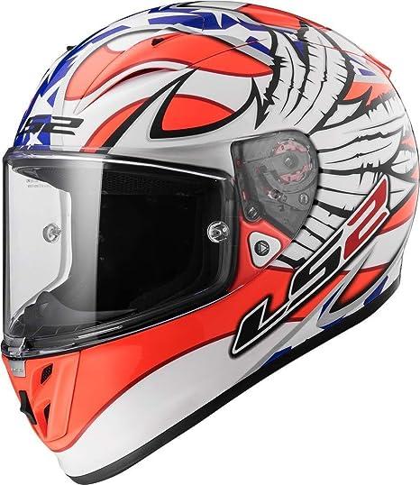 LS2 Casco Moto FF323 Arrow R EVO Freedom, blanco/naranja, ...