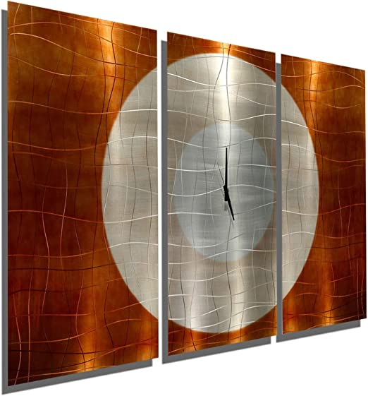 Statements2000 Metal Wall Art Abstract Painting Gold Silver Decor by Jon Allen