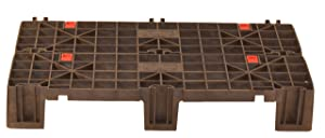 Fast Lock FLP-02-001 HDPE Recycled Plastic Adaptable, Interlocking Pallet and Storage System (Pack of 2)
