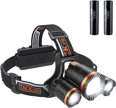 Linterna Frontal LED, TACKLIFE USB Recargable, 4 Modos, 6000 ...