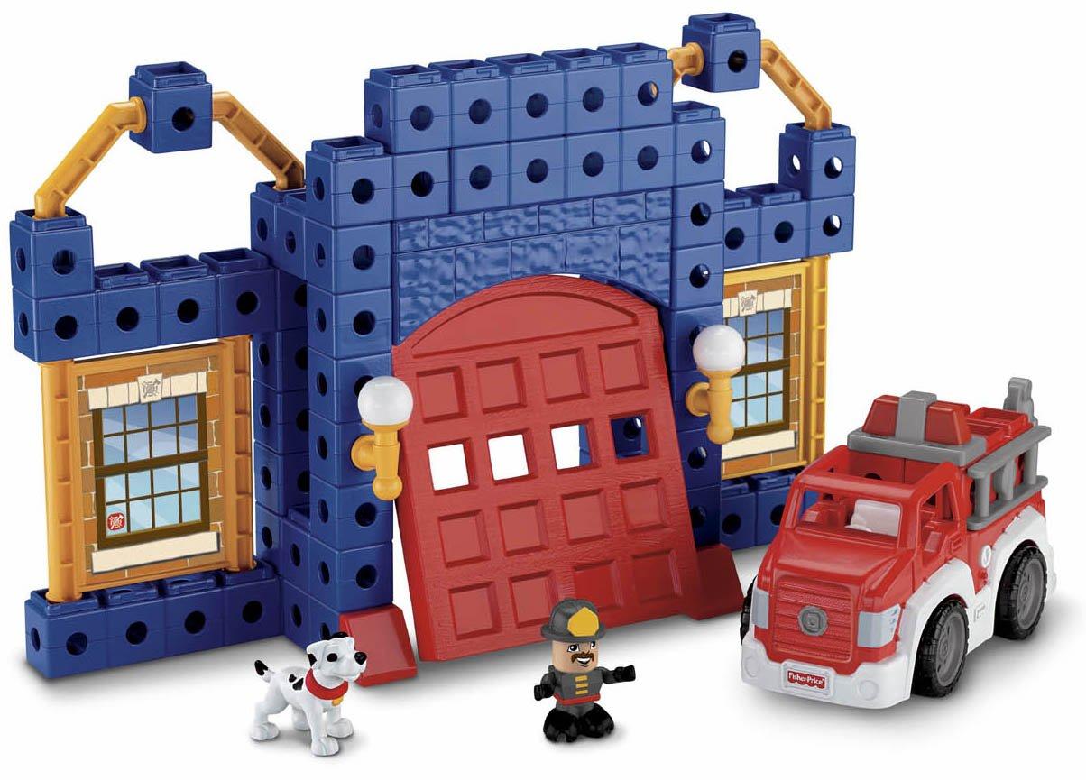 amazoncom fisherprice trio fire station set toys  games -