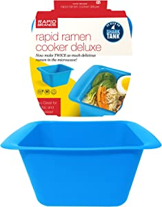Rapid Ramen Cooker Deluxe | Microwave 2 Packs of Ramen in 3 Minutes | Perfect for Dorm, Small Kitchen, or Office | Dishwasher-Safe, Microwaveable, & BPA-Free