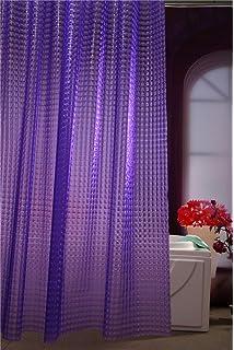 Adwaita 3D Crystal Pattern Mildew Free EVA Bathroom Shower Curtain Liner Eco Friendly No