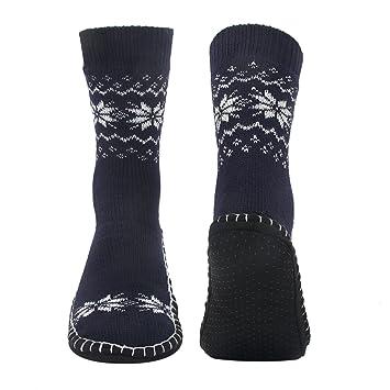 Vihir Hombres Calcetines Antideslizantes para el hogar, Azul: Amazon.es: Deportes y aire libre