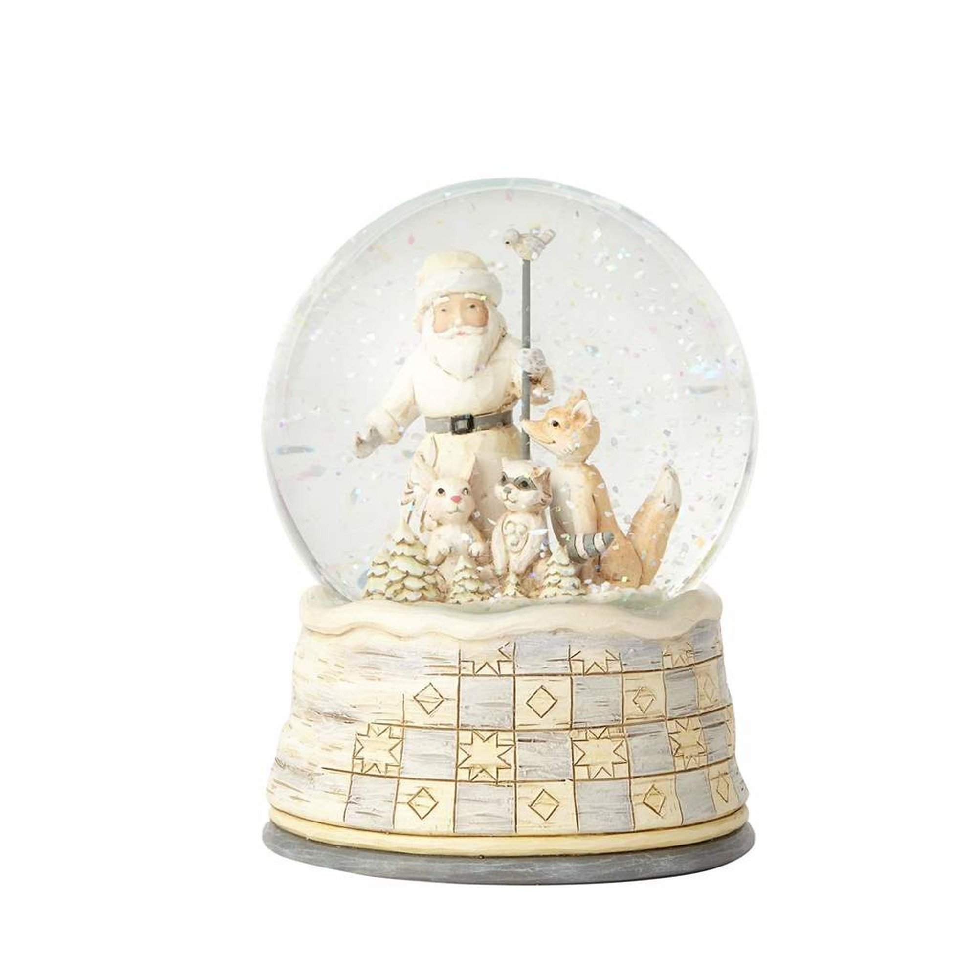 Enesco Jim Shore Heartwood Creek Woodland Season So White, All Is Right Snow Globe, 5.25""