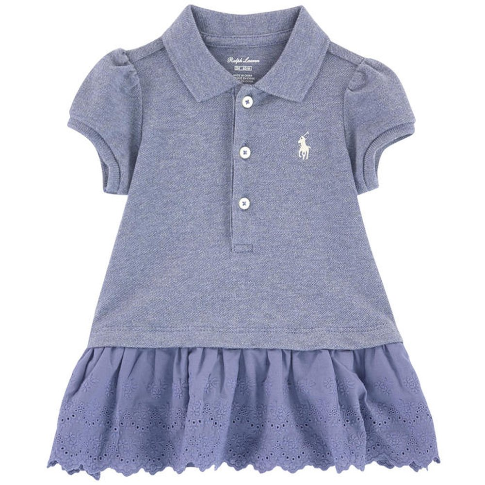 4c7a7e2c53 Amazon.com: Ralph Lauren Baby Girls Eyelet Ruffle Polo Dress Set (9 ...