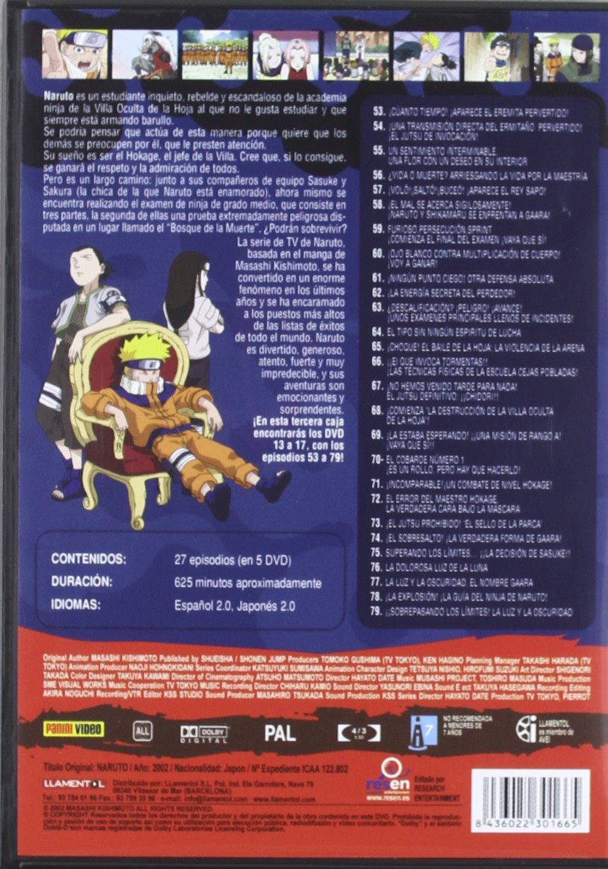 Amazon.com: Pack Naruto 3ª Temporada (5 Dvd): Movies & TV