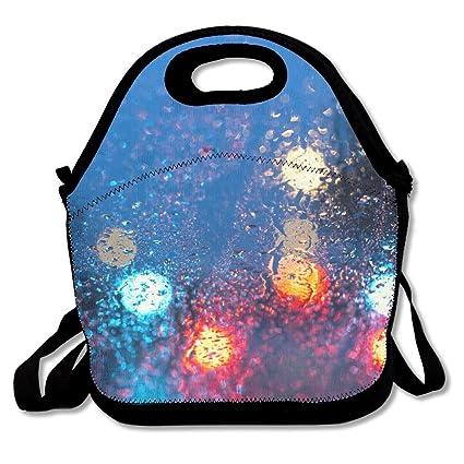 51f96a995979 Amazon.com - PengYou Rain Outside Car Window Lunch Tote Bag Lunchbox ...