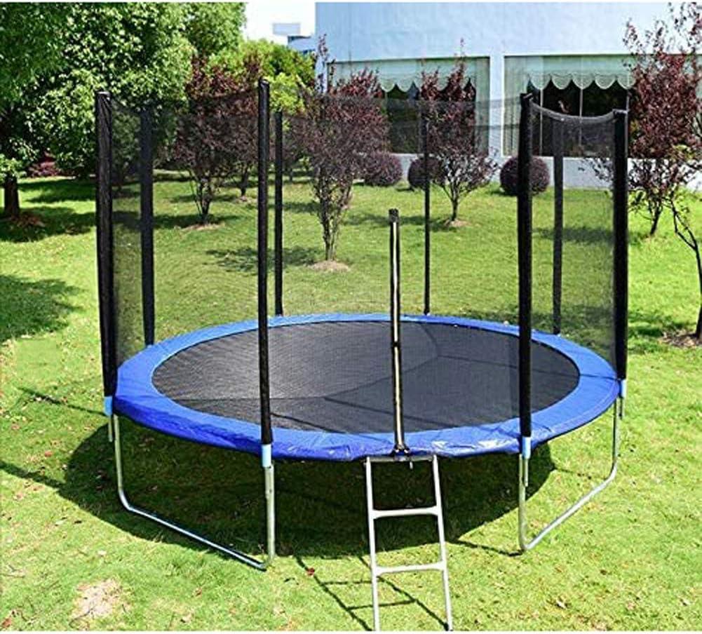 Cama elástica con recinto de la seguridad neto, jardín al aire libre de salto de salto de cama Mat y la cubierta del resorte relleno al aire libre Camas elásticas interiores para