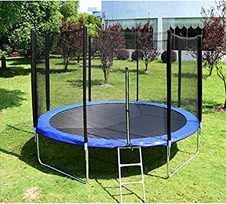 Cama elástica con recinto de la seguridad neto, jardín al aire libre de salto de salto