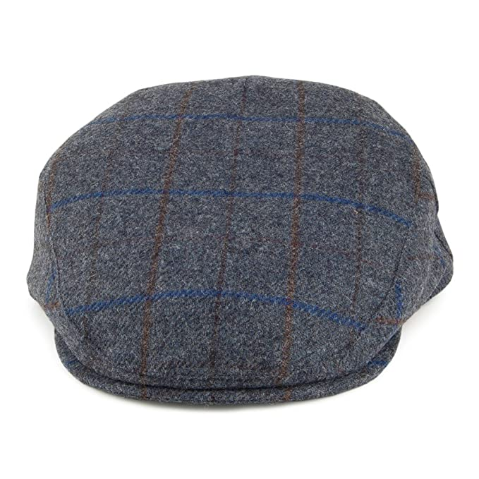 Village Hats Gorra Plana Cambridge de Lana de Failsworth - Azul ...