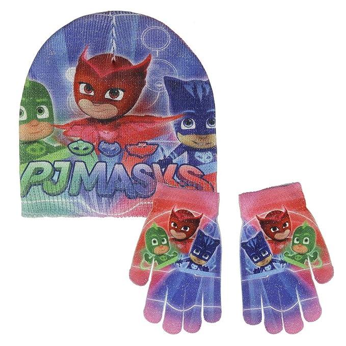 PJ Masks Héroes En Pijamas 2200-2551 Set 2 Piezas Brillante, Gorro Más Guantes