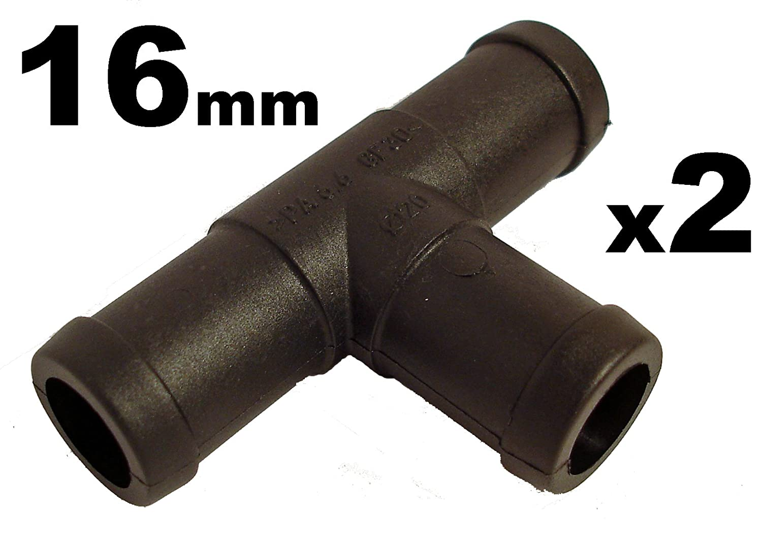 2 Hose Tube Pipe 3-way T-Piece Splitter Connector 16mm Tube Pipe Connector Joiner Air Fuel Water - FREE FIRST CLASS UK POSTAGE! Autoconsumables