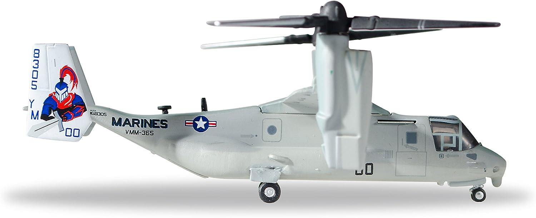 U.S Herpa 558549/ /168305//00/Blue Knights /Vehicle /VMM 365/ Marine Corps Bell//Boeing MV 22/Osprey/