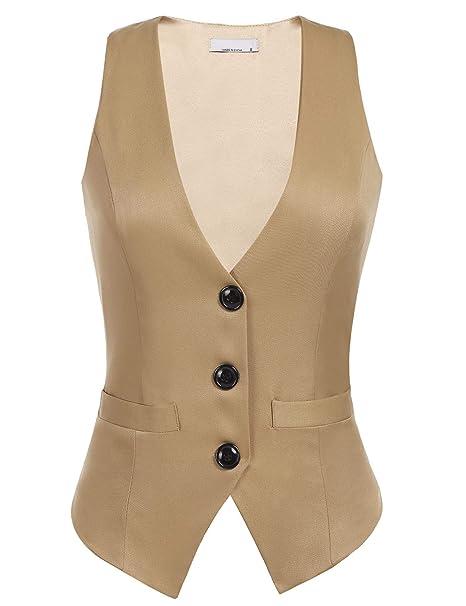 Zeagoo Women Slim Double Breasted Blazer Casual Work Office Peplum