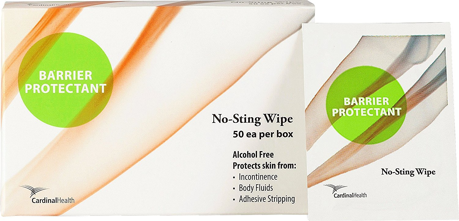 Cardinal Health CSC-BNS-WP No-Sting Barrier Skin Protectant, Sterile Wipe