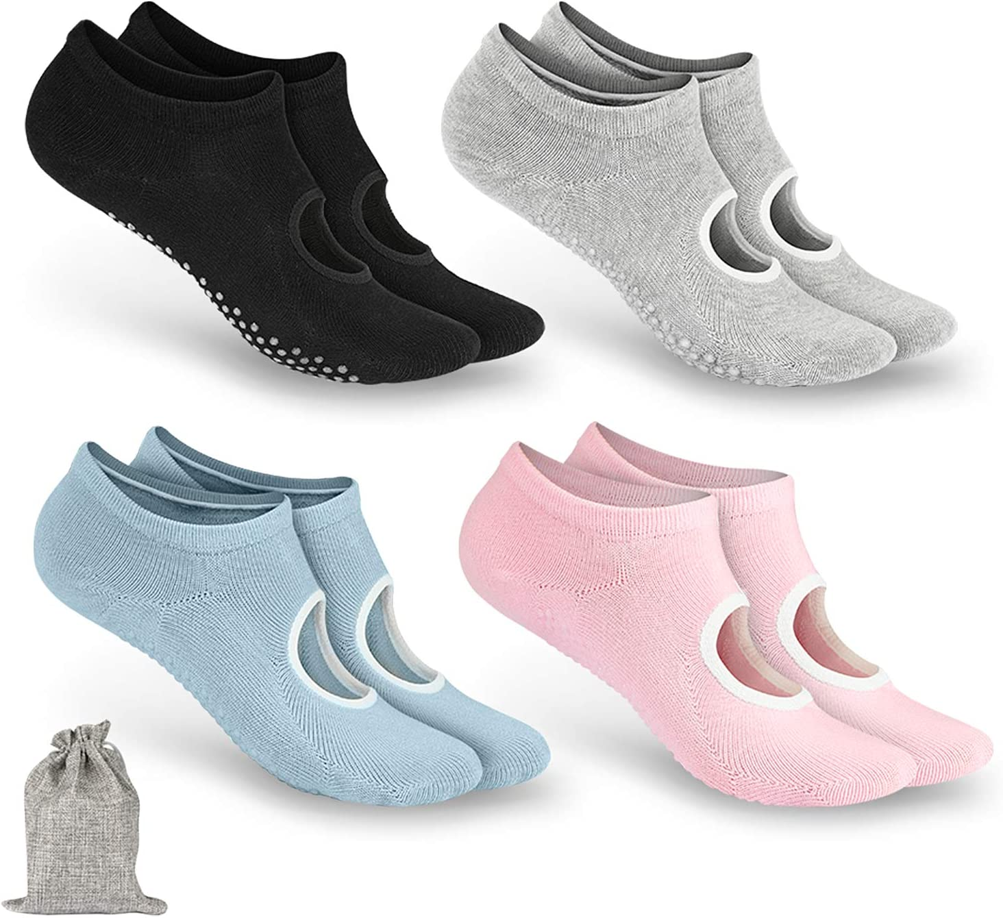 Pack de 4 pares de calcetines antideslizantes por sólo 7,99€ con el #código: VB4ZXDXG