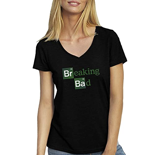 Breaking Bad Logo T-Shirt camiseta Cuello V para la Mujer