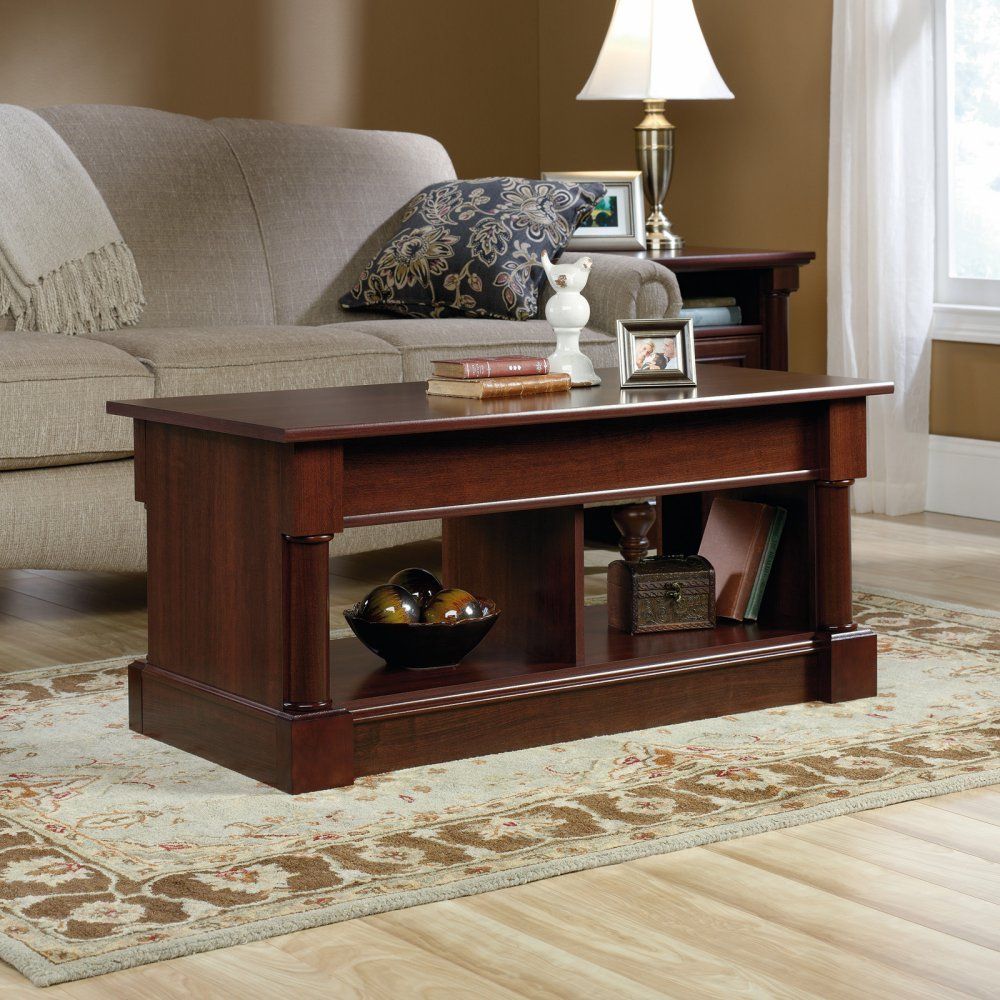 Amazon sauder palladia lift top coffee table in cherry amazon sauder palladia lift top coffee table in cherry kitchen dining geotapseo Image collections