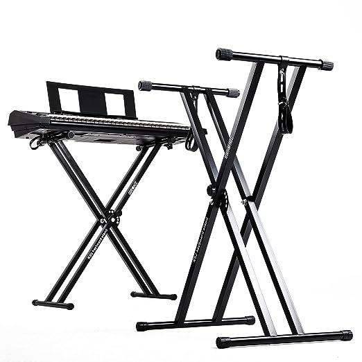 40 opinioni per Duronic KS2B- Supporto per pianoforte digitale/tastiera con altezza regolabile,