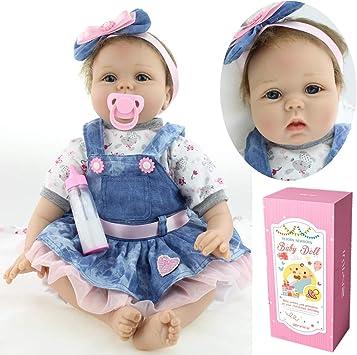 ZIYIUI 55 cm Bambola Reborn Baby Dolls Bambole Reborn Silicone