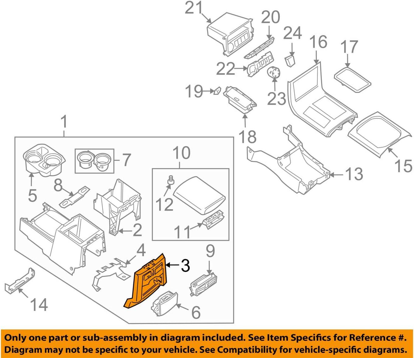 Genuine Rear Center Console Cupholder Trim Panel 96930-ZS10C