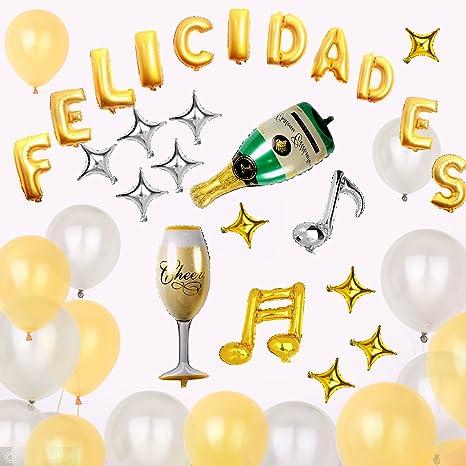 IDESION Decoraciones Cumpleaños Globos de Letras Felicidades ...