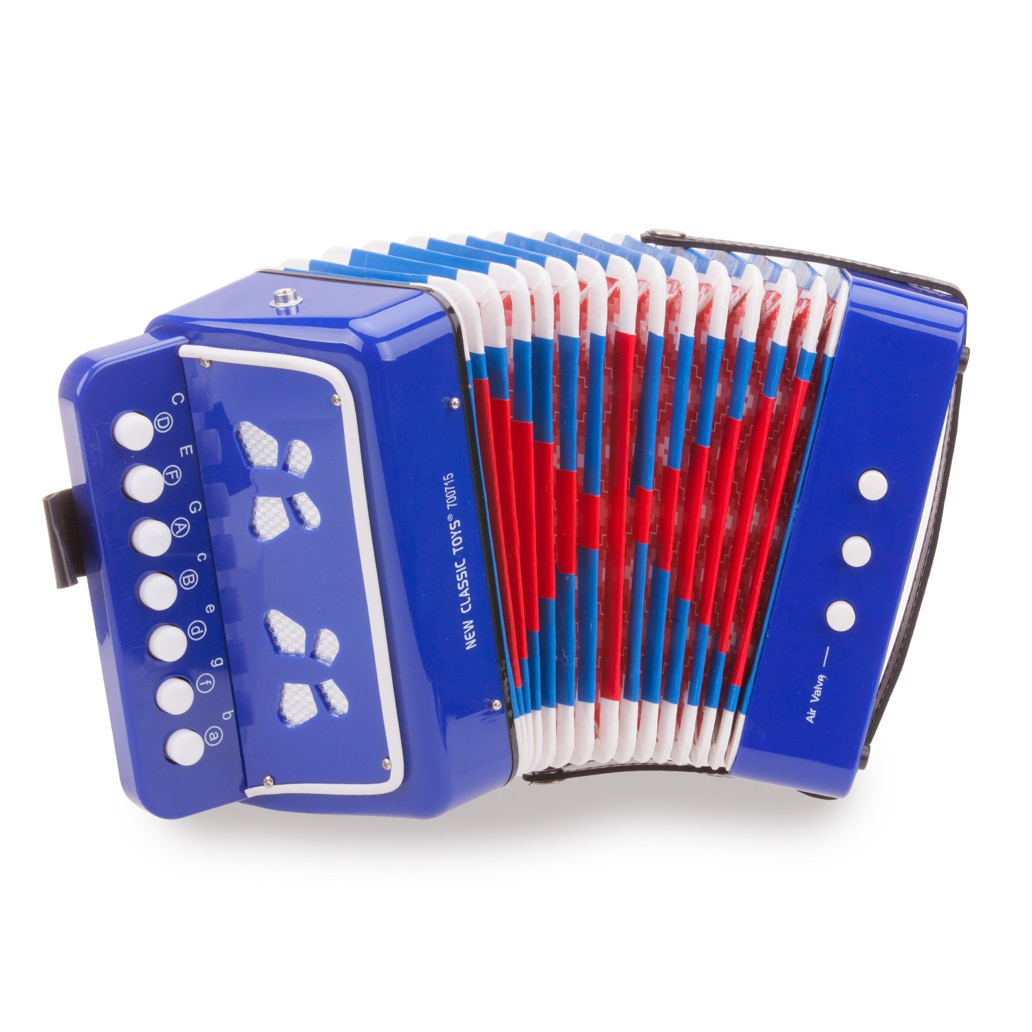 New Classic Toys - 10056 - Musical Toy Instruments - Accordion with Music Book - Blue by New Classic Toys