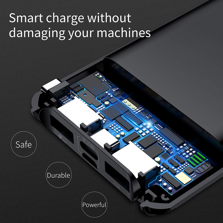 Amazon.com: Cargador de batería de 10000 mAh de carga rápida ...