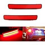 Amazon Com Gtinthebox 2 3d Optic Red Led Rear Bumper