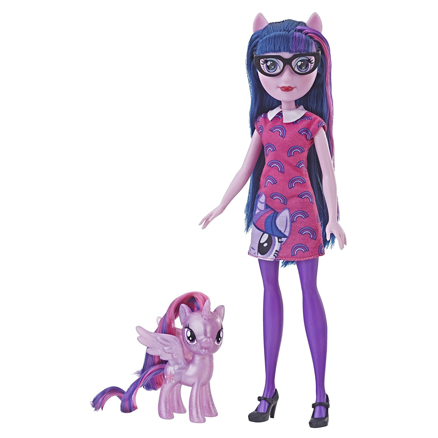 """My Little Pony Equestria Girls Through The Mirror Twilight Sparkle -- 11"""" Fashion Doll with Purple Pony Figure, Removable Outfit & Shoes, Ages 5+"""