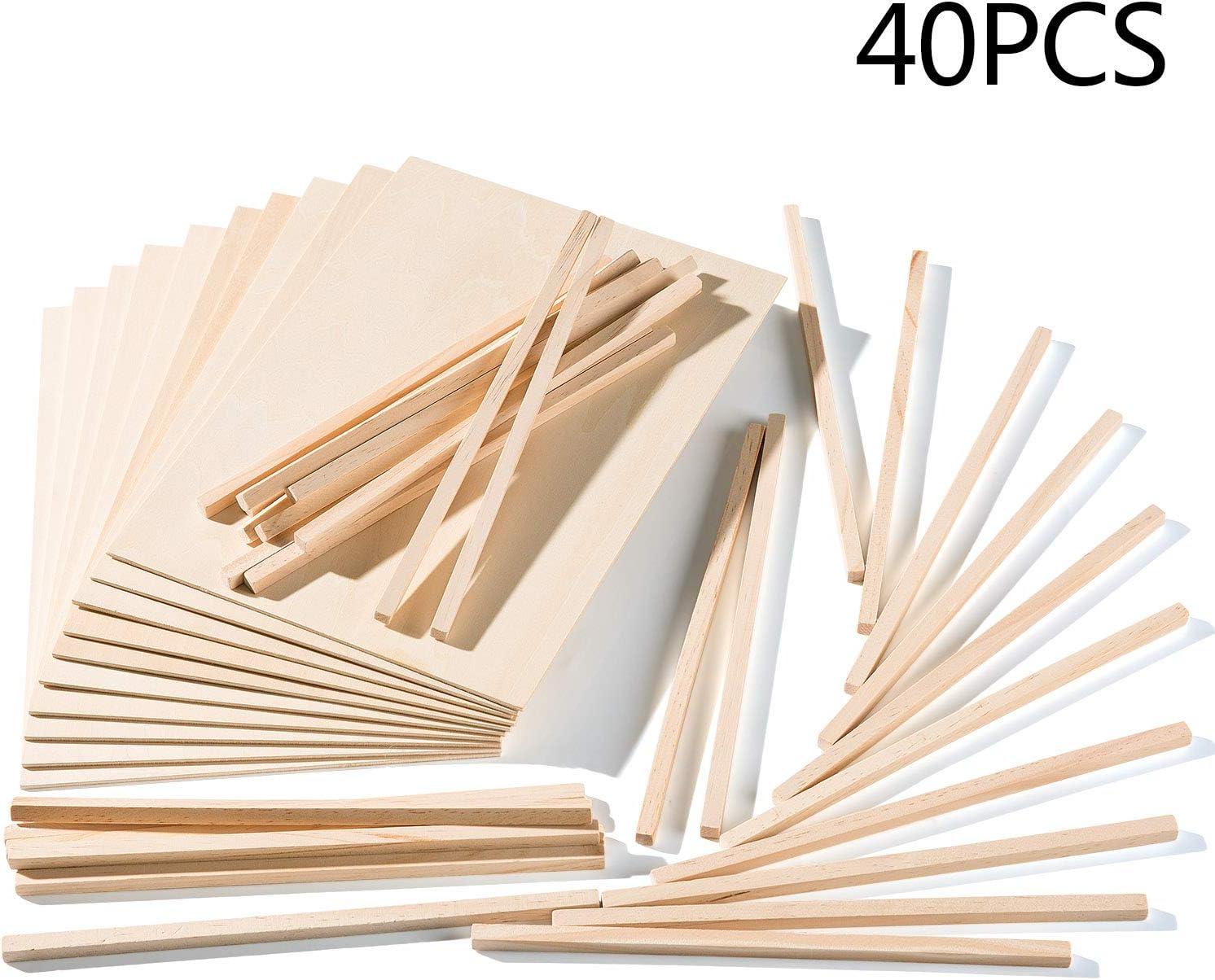 Yangbaga A4 Sperrholz-Platten Lindenholz 3mm Malen Modellbau zum Laserschneiden 10 St/ücke Holzplatten mit 30 St/ücke Holzst/äbchen 300 * 210 * 3mm Gravieren