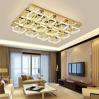 LED Quadratische Deckenleuchte Kristall Kompakte Edelstahl Decke, Modern  Kreative Design Lampe Dekoration Leuchte Kristall