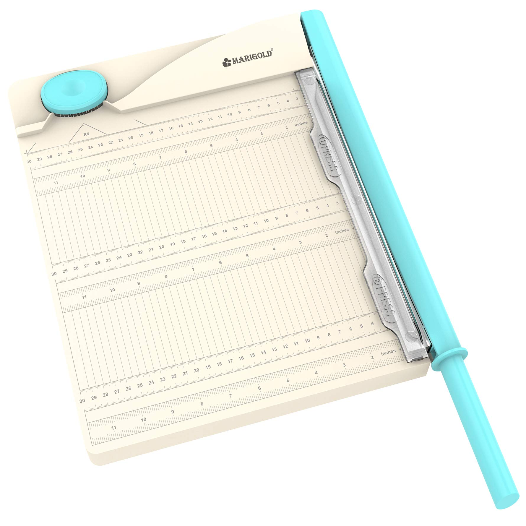 MARIGOLD Paper Cutter Corner Puncher - 12'' Paper Guillotine 2-in-1 Paper Trimmer by Marigold