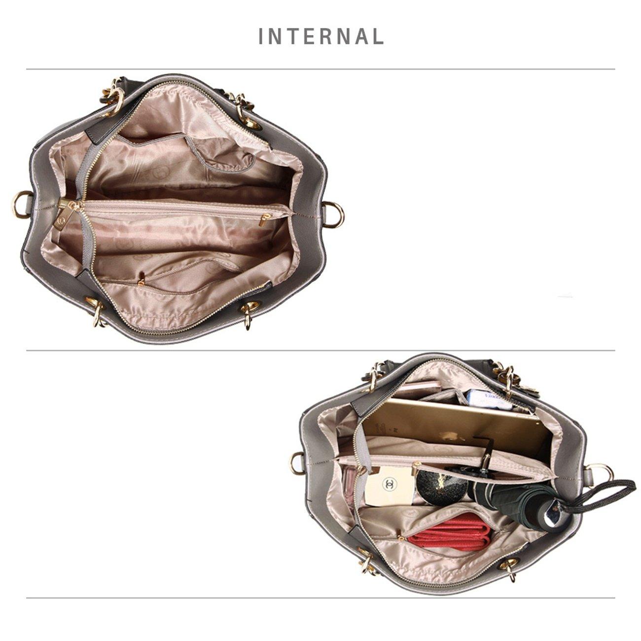 4cde80ae7af LeahWard Womens Designer Tote Bags Large Faux Leather Handbags Shoulder Bag  For Her School 536