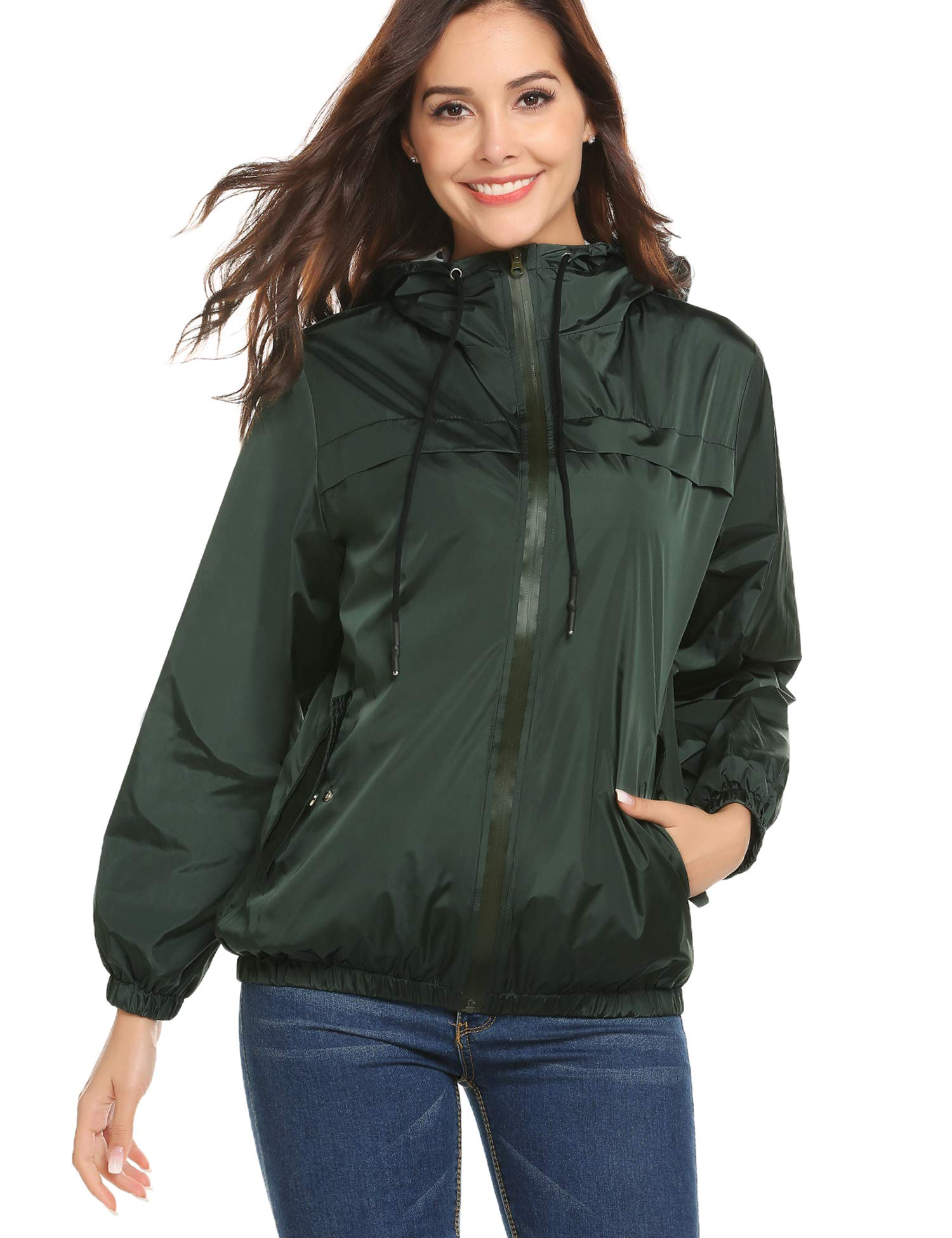 LOMON Womens Hooded Jacket Plus Size 92ba8c79e