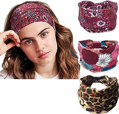 Elastic Stretchable Women/'s Wide Lace Headband Flower Hairband Head Wraps