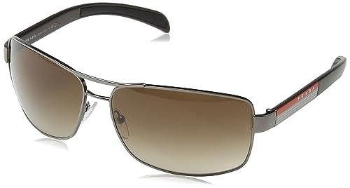 8691af27b179b6 Prada Sport 54IS 5AV5Z1 Gunmetal 54IS Square Sunglasses Polarised Size 65mm