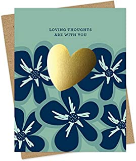 product image for Gold Heart Sympathy Foil-Stamped Card by Night Owl Paper Goods