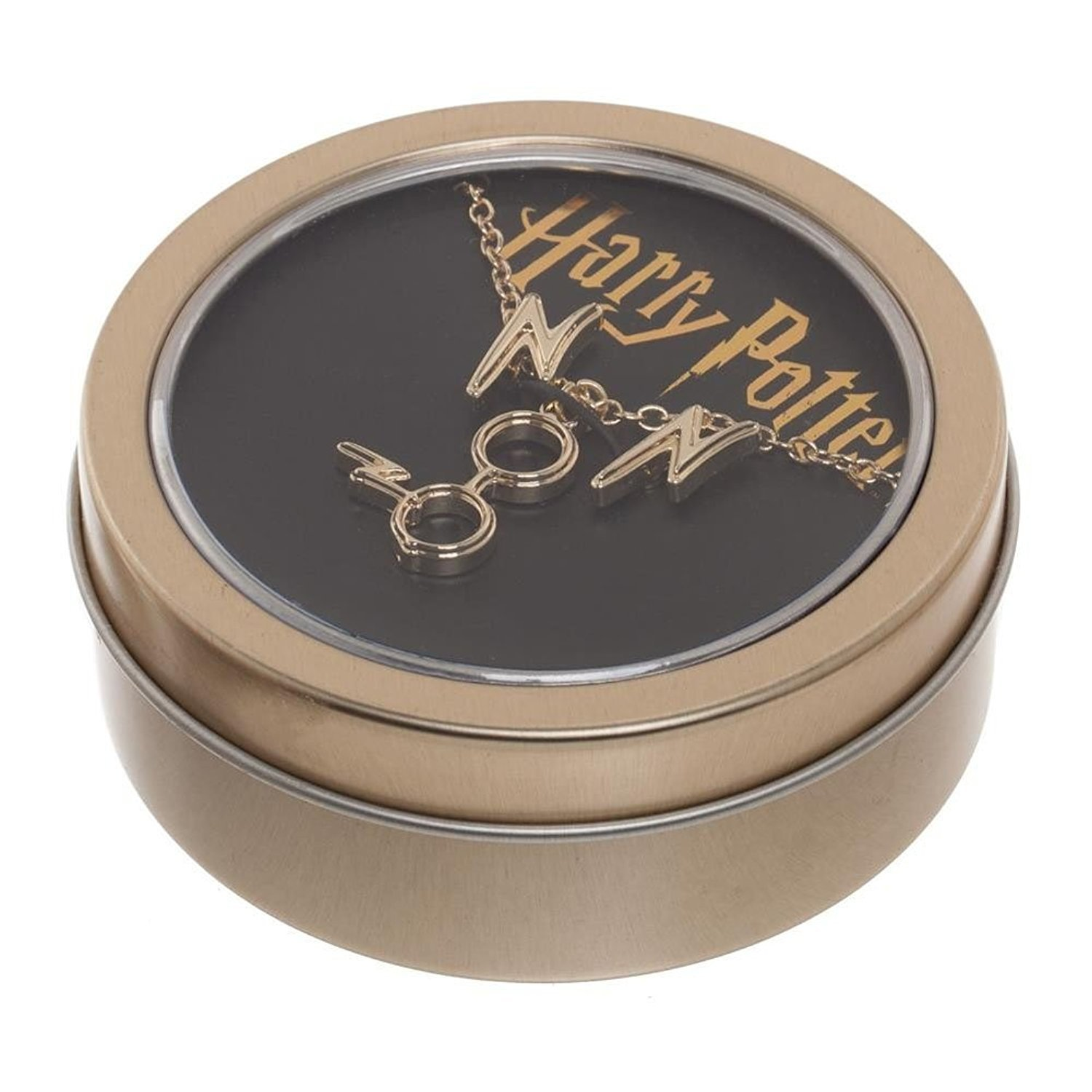 Official Licensed Harry Potter Earrings And Necklace Gift Set In Tin Sumo Dahoma Beige Js5ymihpt
