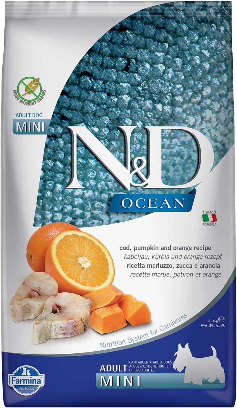 Farmina N&D Dog Codfish, Orange & Pumpkin Mini 5.5 Pounds