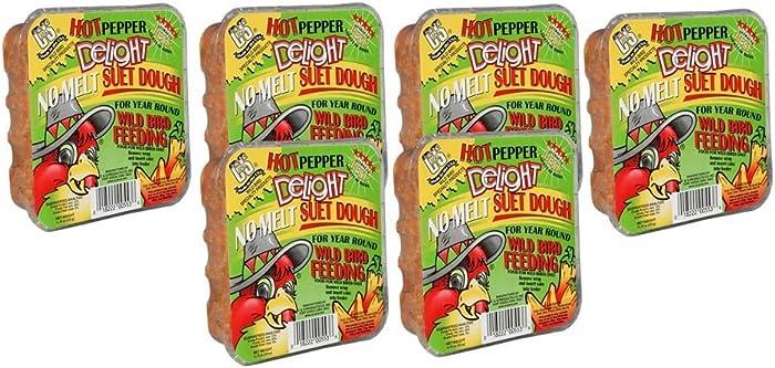 C&S CS12553 11.75 Oz Hot Pepper Delight Wild Bird No Melt Suet Dough