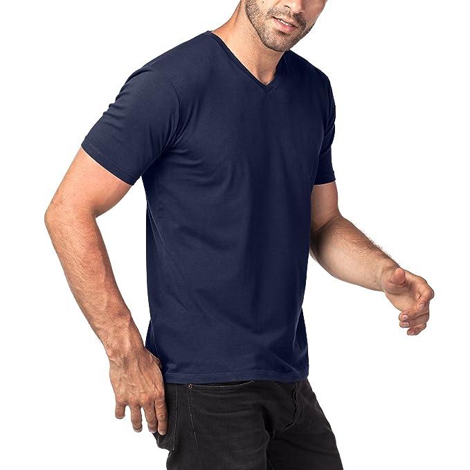2e2aa04a2dd68 LAPASA 2 Camisetas para Hombre de Algodón ELS Manga Corta  Amazon.es  Ropa  y accesorios